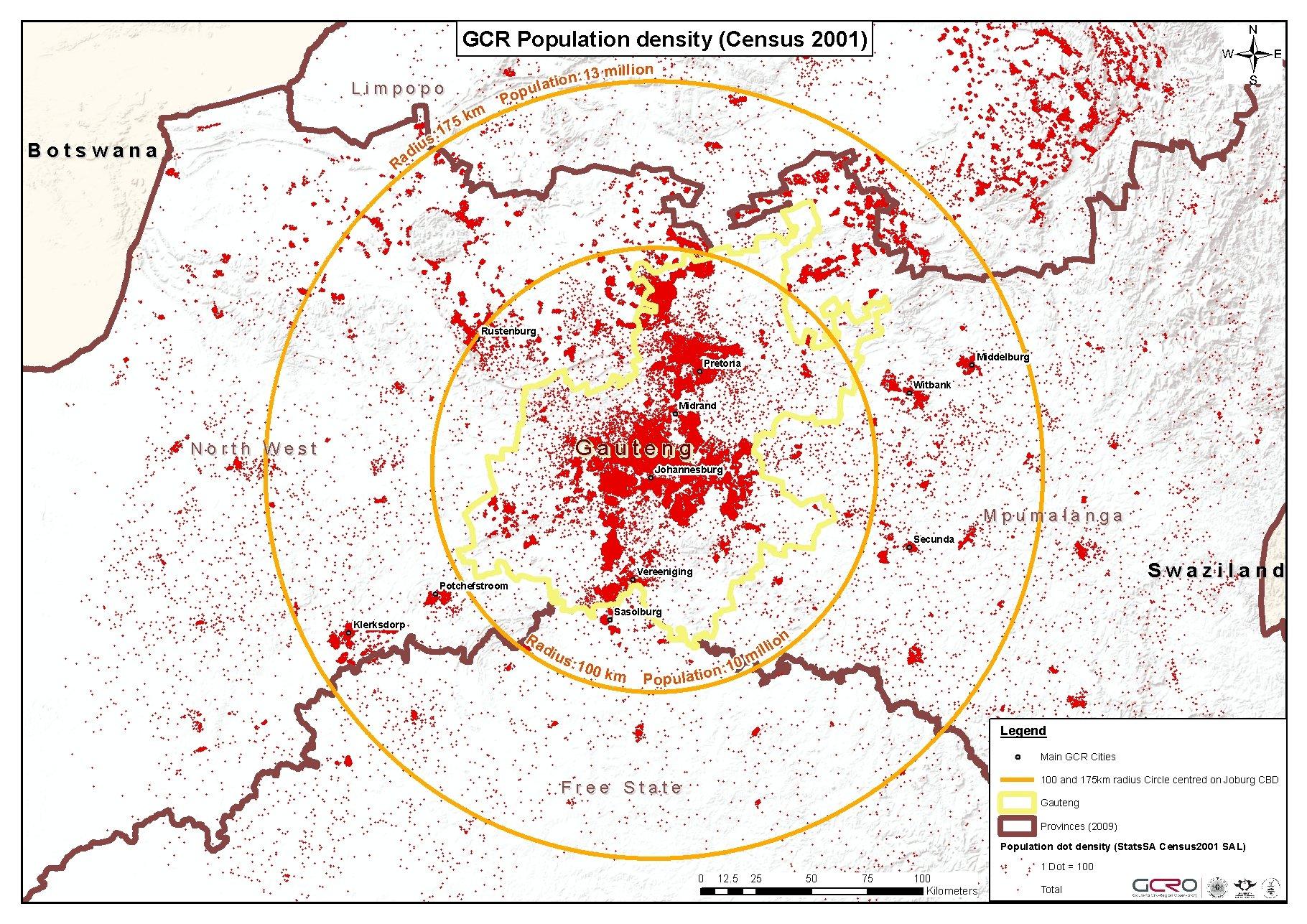 GCRO_footprint_census2001_small_area_statistics_Population_GCR_dot_density_with_radius_v2