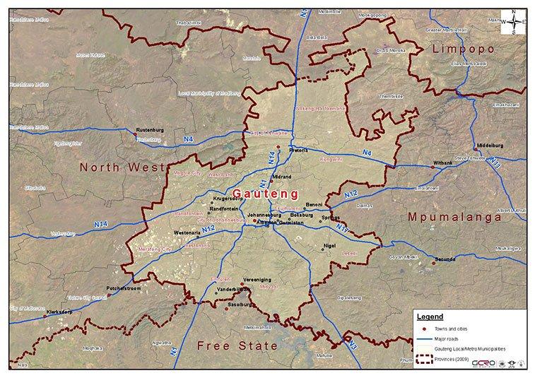 Gauteng_map_Oct_2009_ESRI_relief_with_sat_image